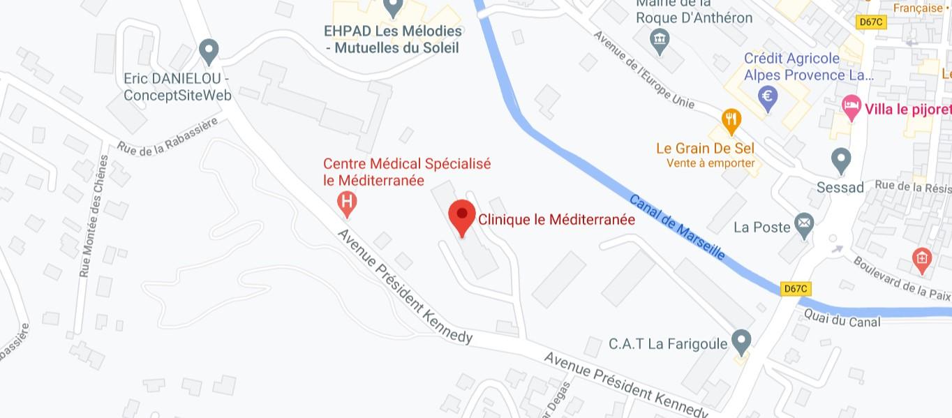 Plan map clinique le mediterranee