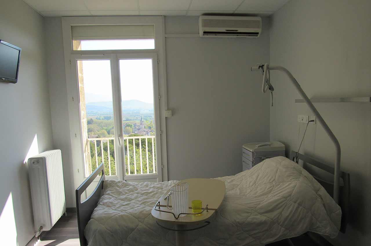 Les chambres de la clinique le méditerranée